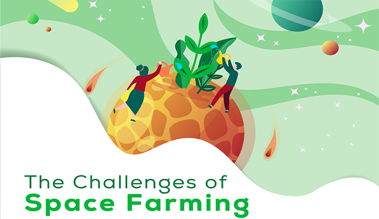 The Challenges of Space Farming #infographic