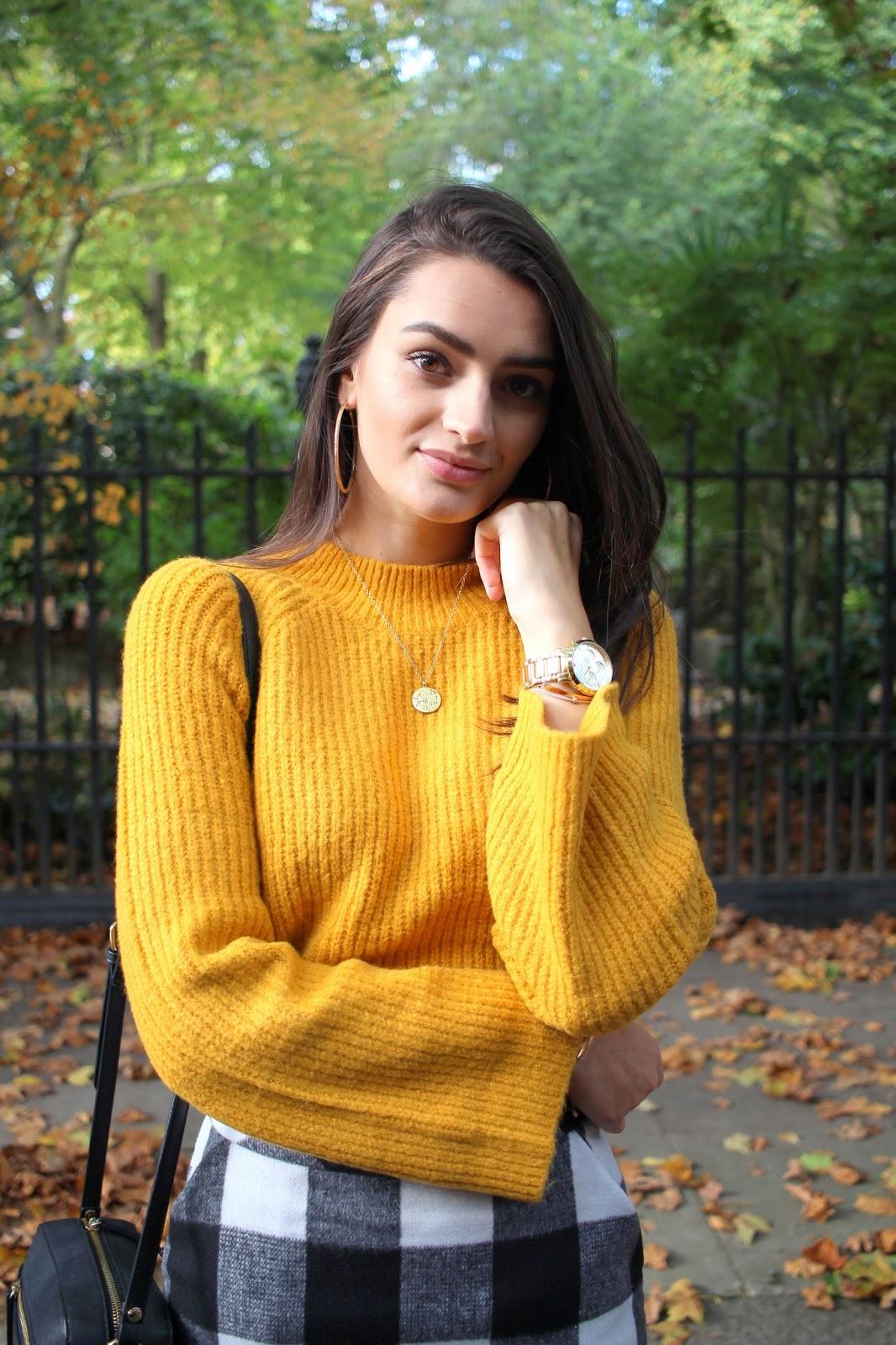 peexo autumn style mustard jumper