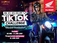 Tantang Kreativitas Anak Muda , MPM Honda Jatim Gelar Scoopy Tik Tok Challenge.