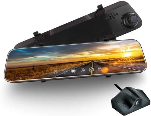 WeJupit 1.66 Inch Car Mirror Dash Cam Camera