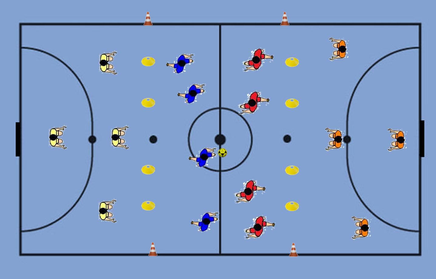 0ef1b67c6d As 4 equipas são formadas por apenas 4 jogadores permitindo que o ataque  após transpor os mecos se encontre em superioridade numérica.