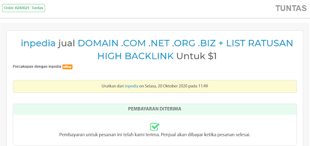 order domain murah