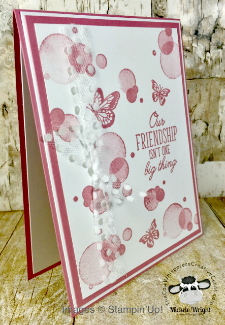 Card, Beauty Abounds, Rococo Rose, Clean & Simple