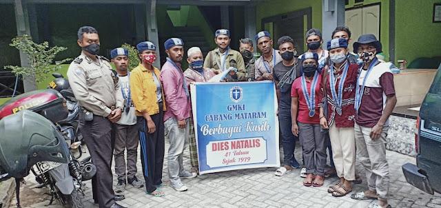 GMKI Cabang Mataram Berikan Sembako Secara Simbolis Kepada Pengasuh Panti Asuhan Muhammadiyah Mataram.