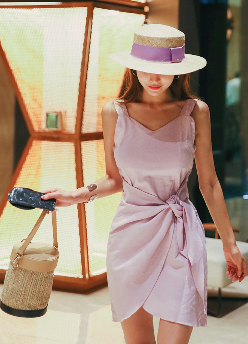 Sleeveless Mini Wrap Dress