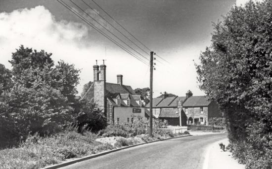 The Hope and Anchor, Station Road, Welham Green, in the 1960s  Image by Ron Kingdon, part of the Images of North Mymms collection