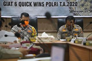 Wakapolda Sulsel Pimpin Rapat Program Satgas Sembako
