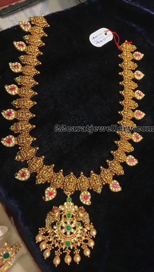 Lakshmi Haram with Simple Kundan Pendant