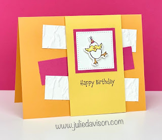 Stampin' Up! Hey Birthday Chick Card + Layout ~ www.juliedavison.com #stampinup