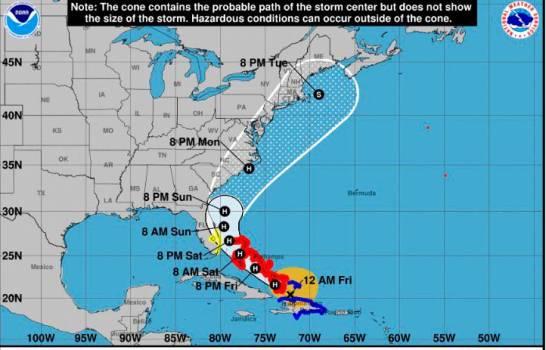 Isaías se convierte en huracán categoría uno al sur de las Bahamas