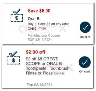 oral b CRT cvs coupons
