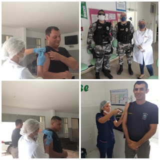 Policiais do 9° Batalhão recebem vacina contra H1N1