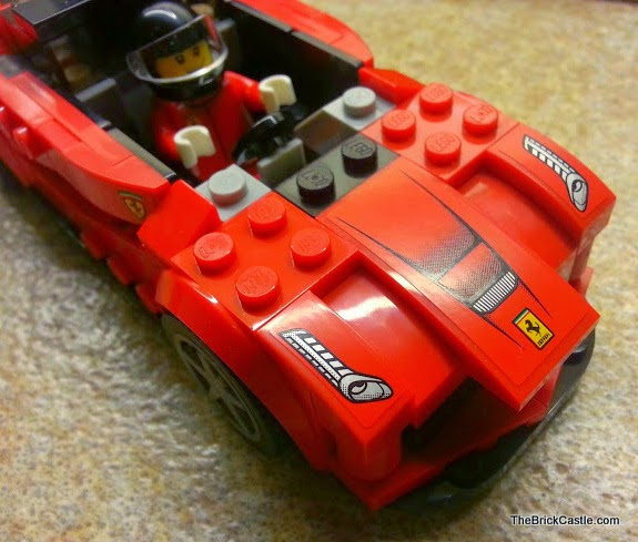 LEGO LaFerrari set 75899 Ferrari model car driver and bonnet