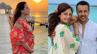 dia-mirza-shared-a-picture-of-her-pregnancy-confirmation-with-baby-bump-flaunting