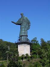 The colossal Sancarlone statue outside Arona