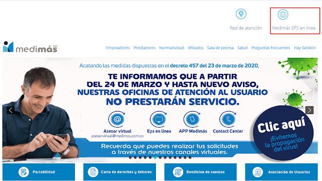Descargar Certificado de Afiliacion Medimás 2020