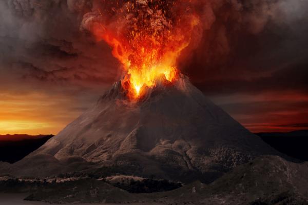 Gunung Vesuvius Meletus