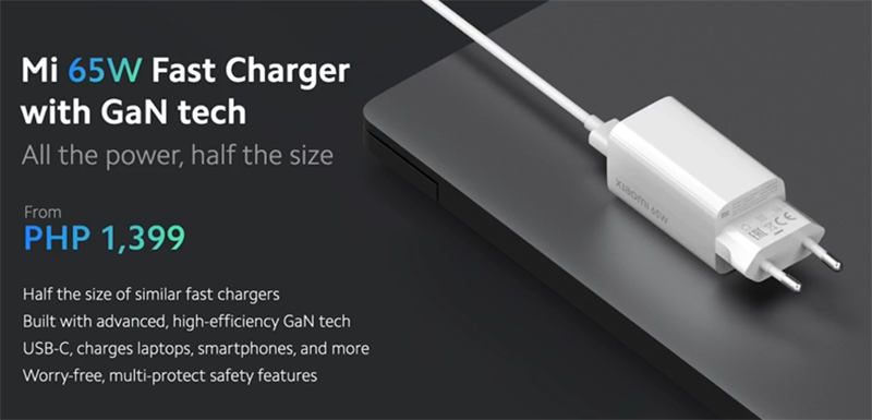 Xiaomi Mi 65W Fast Charger with GaN tech to arrive in PH, priced at PHP 1,399