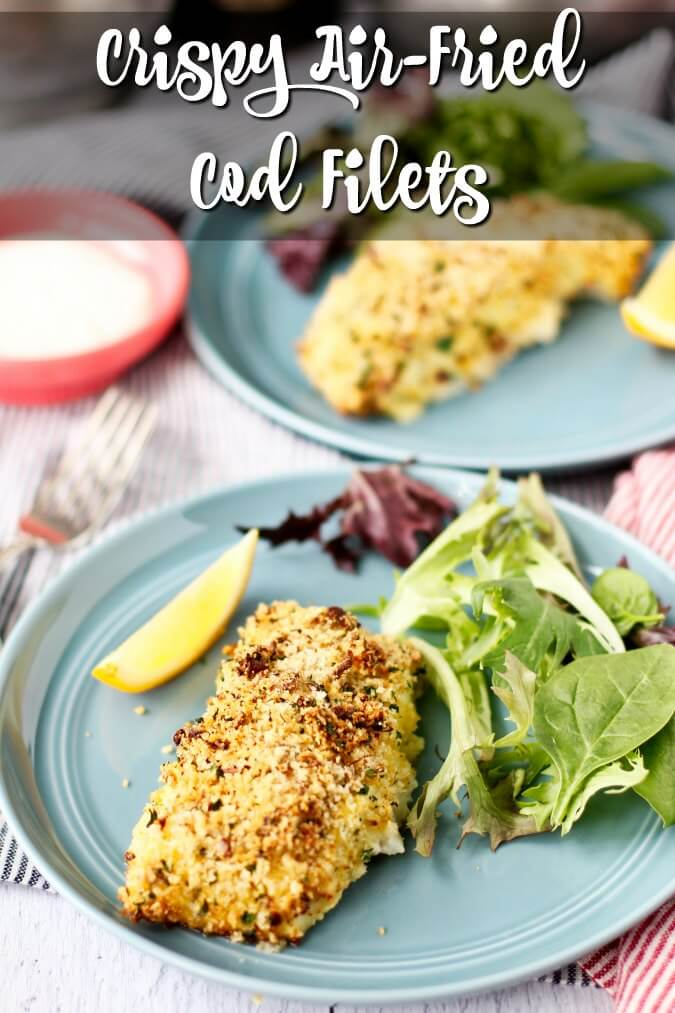 Crunchy air-fried cod fillets