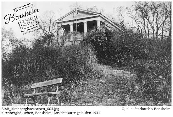 Bensheim in alten Bildern - Das Kirchberghäuschen um 1930