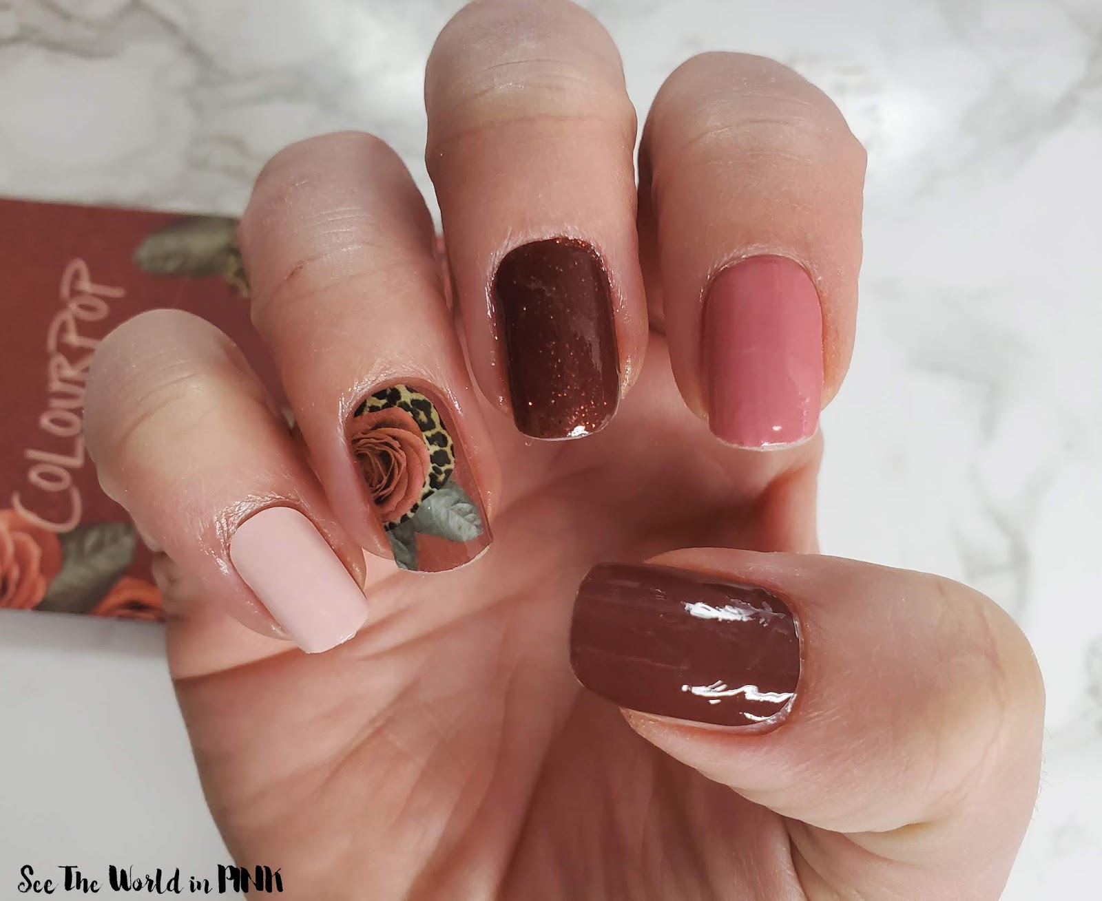 Manicure Monday - ColourPop Nail Art Decals Burgundy Rose + Gradient Set