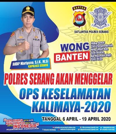 Polres Serang Akan Menggelar Operasi Keselamatan Kalimaya TA. 2020 Mulai 6 April Mendatang