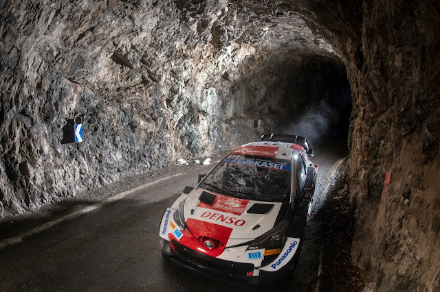 Elfyn Evans Leading Rallye Monte Carlo