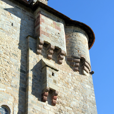 Architectural detail of the castle.