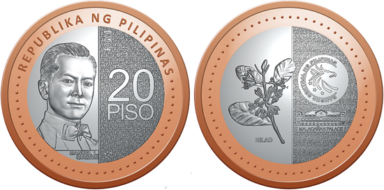 Philippines 20 piso 2019 - New denomination