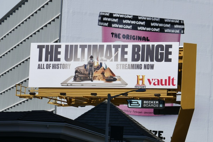 History Vault billboard
