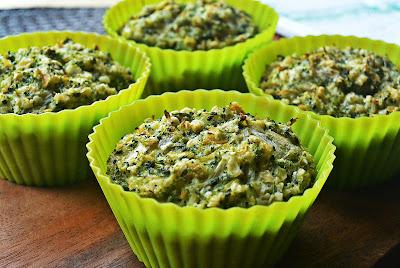 Wege muffiny z brokułami i pędami bambusa