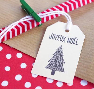 étiquette paquet cadeau noel