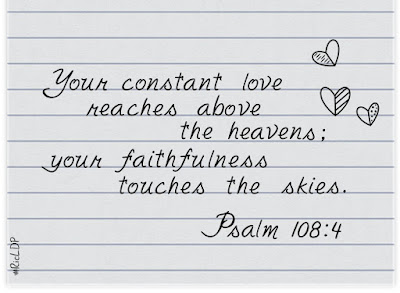 your constant love reaches above the heavens