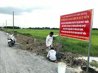 cảnh báo mua bán nhà đất qua Thừa phát lại