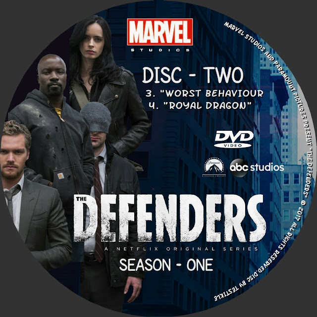 The Defenders Season 1 Disc 2 DVD Label
