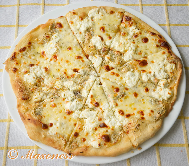 Пицца бьянка с четырьмя сырами от Гордона Рамзи. Итальянская кухня