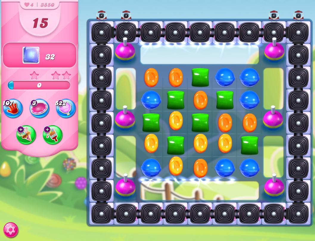 Candy Crush Saga level 3850