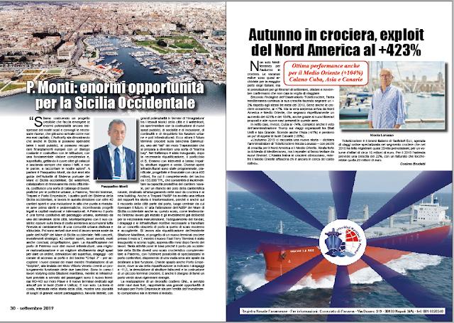 SETTEMBRE 2019 PAG. 30 - P. Monti: enormi opportunità per la Sicilia Occidentale
