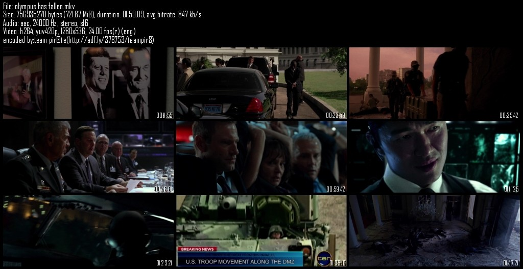 Olympus Has fallen Bluray 720