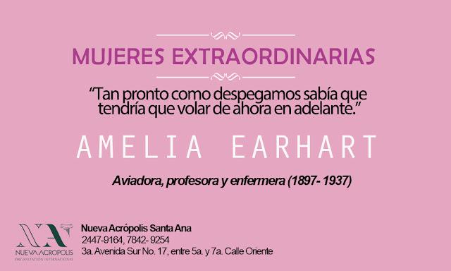 Frase de Amelia Earhart