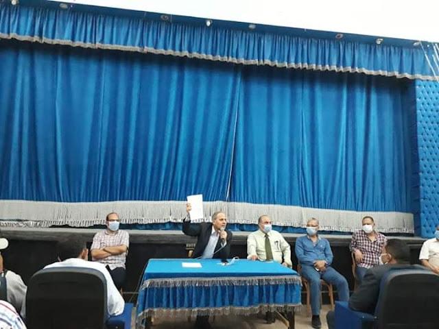 التعليم تعقد اجتماعا طارئا مع رؤساء لجان امتحانات الدبلومات الفنية بالفيوم.