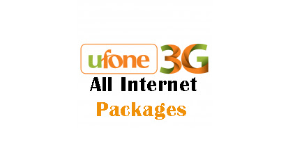 Ufone Internet Packages 3g & 4g For Daily, Weekly And Monthly