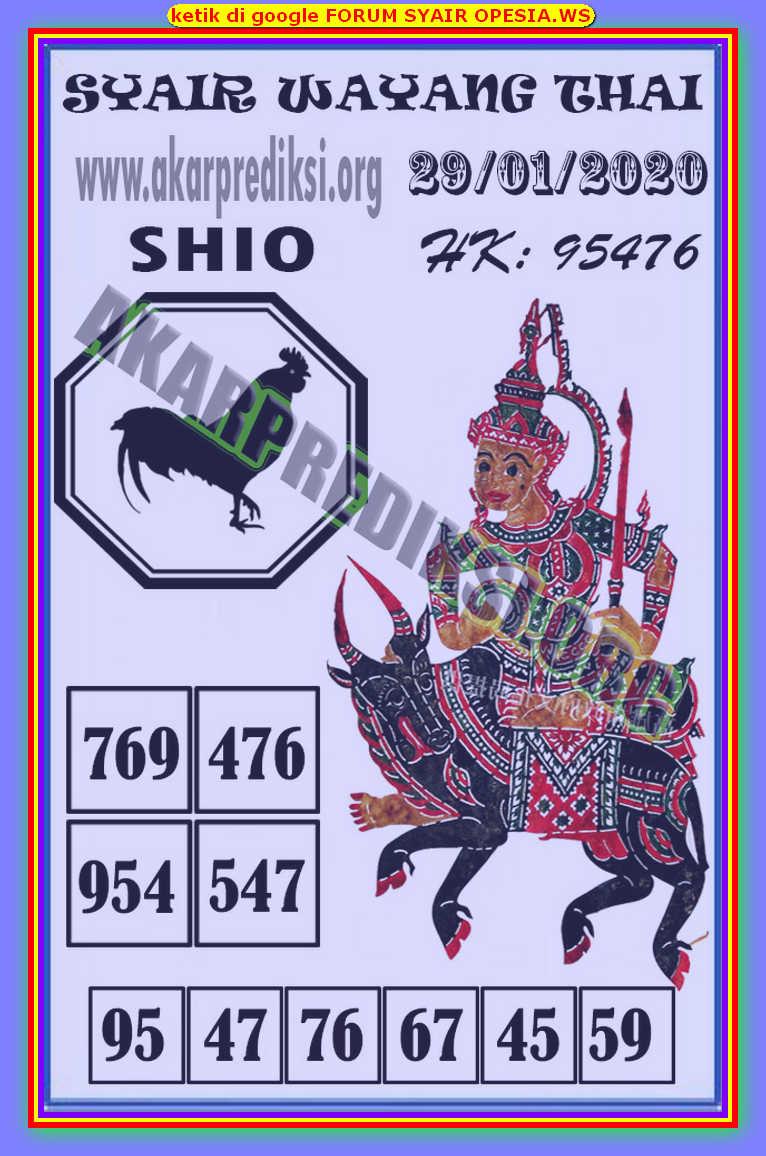 Kode syair Hongkong Rabu 29 Januari 2020 153