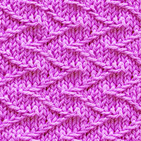 Jacquard Slip stitch knitting pattern. Easy/quick to knit with chunky yarn and big needles