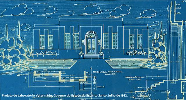 ID 425 - Projeto de Laboratório Veterinário, Governo do Estado do Espírito Santo, julho de 1932.