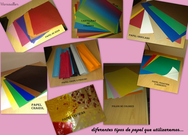 Las manualidades de mis ni os papeles - Tipos de papel manualidades ...