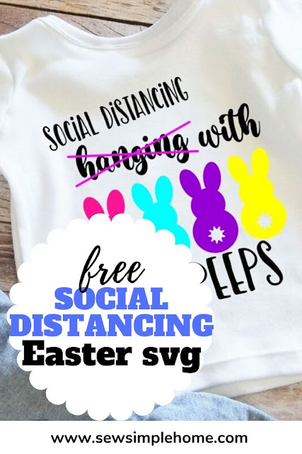 Get ready for Easter this year with this silly free hanging with my peeps svg