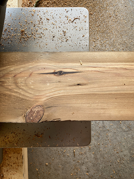 old growth pine planed after