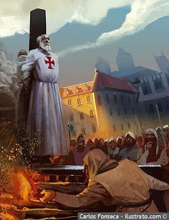 Jacques de Molay, grand maître du Temple, brûlé vif pour hérésie