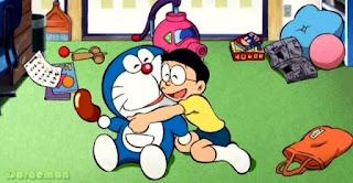 Gambar wallpaper lucu Doraemon dan Nobita